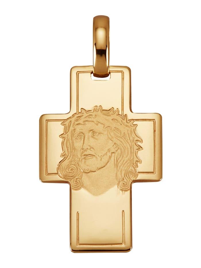 Diemer Gold Hanger Kruis van 14 kt., Geelgoudkleur