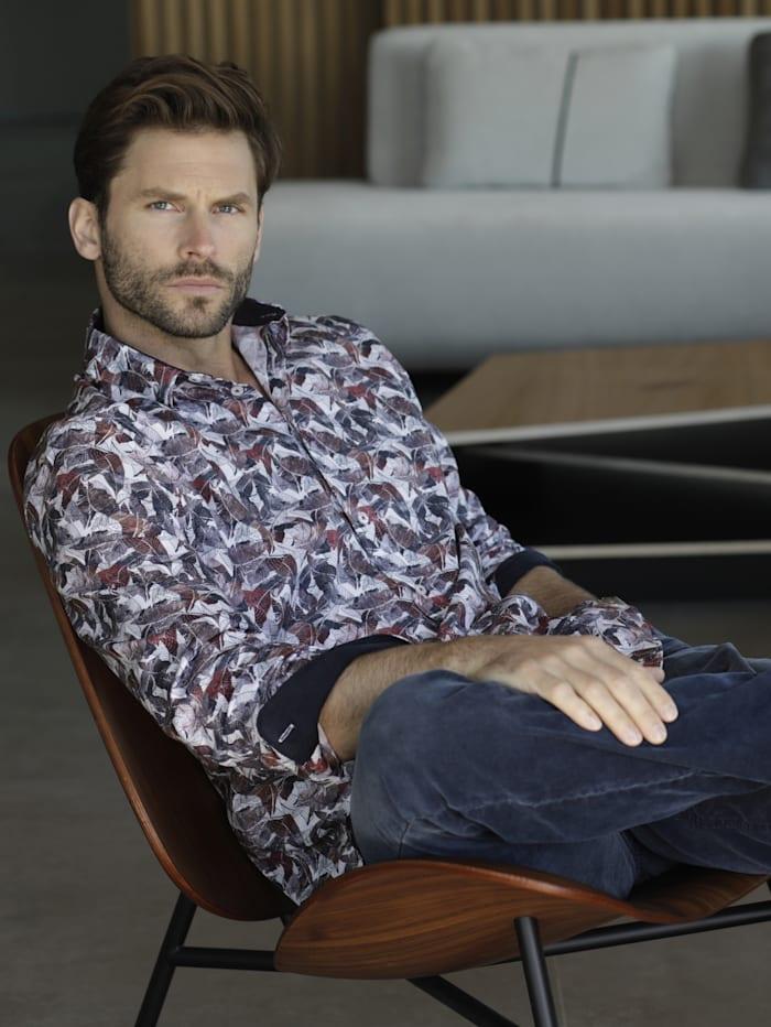 BABISTA Overhemd met trendy print, Wit/Marine/Rood