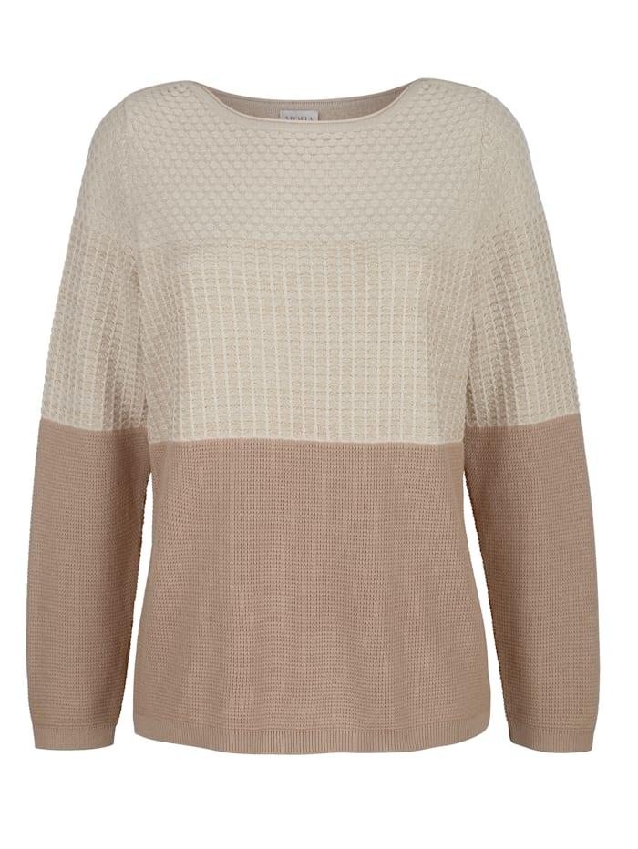 Pullover mit goldenem Glanzgarn