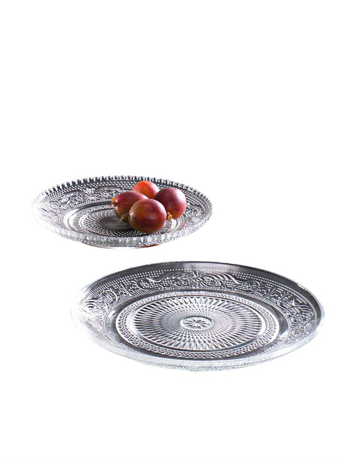 2-d. set talířů 'Relief', Transparentní