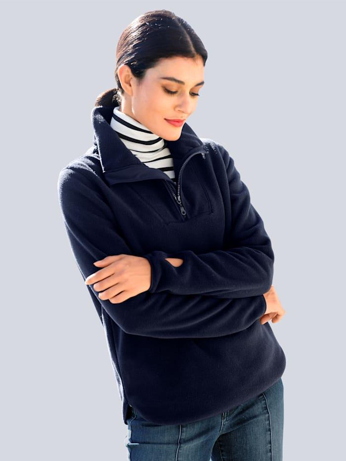 Alba Moda Fleece trui van zachte fleece, Marine