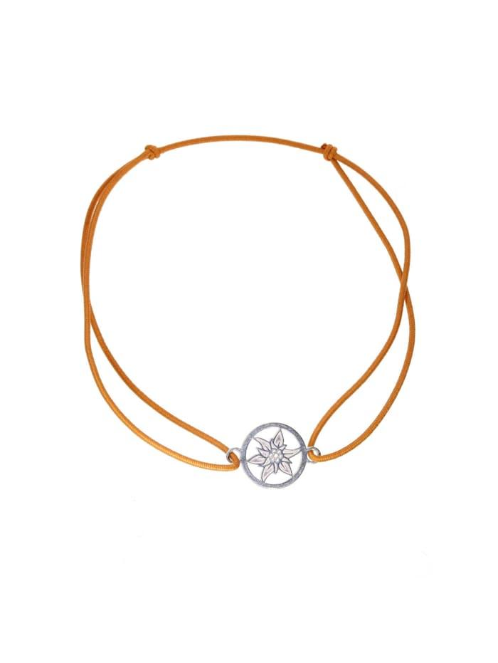 1001 Diamonds Armband Edelweiss 925 Silber hellbraun, braun