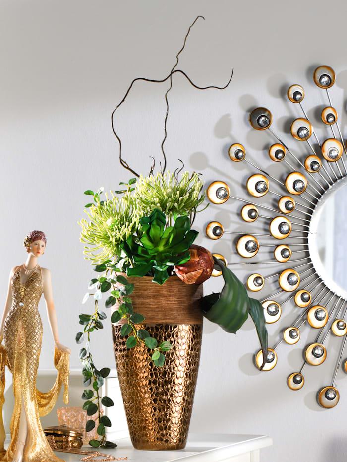 Arrangement 'Succulente/Chrysanthemen', grün