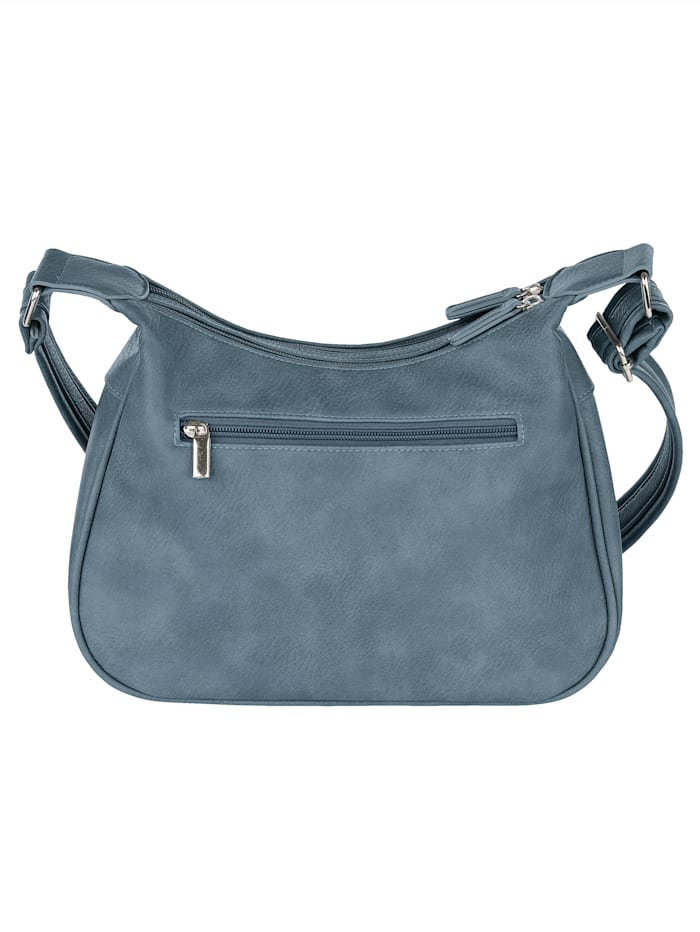 Shoulder bag with practical compartments