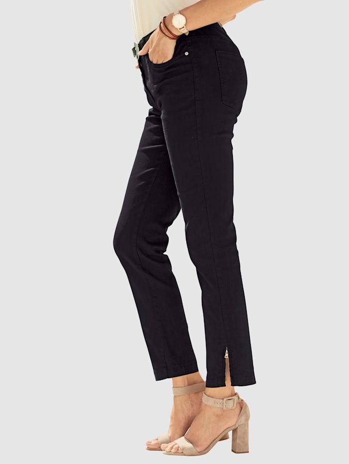 7/8-jeans met rits bij de pijpzoom