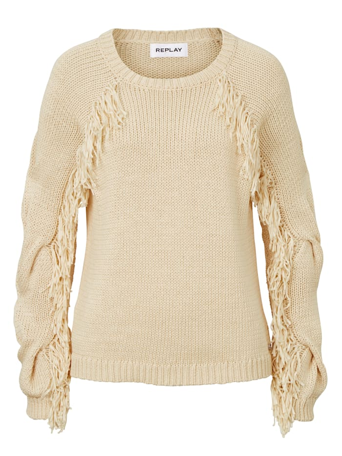 REPLAY Pullover, Beige
