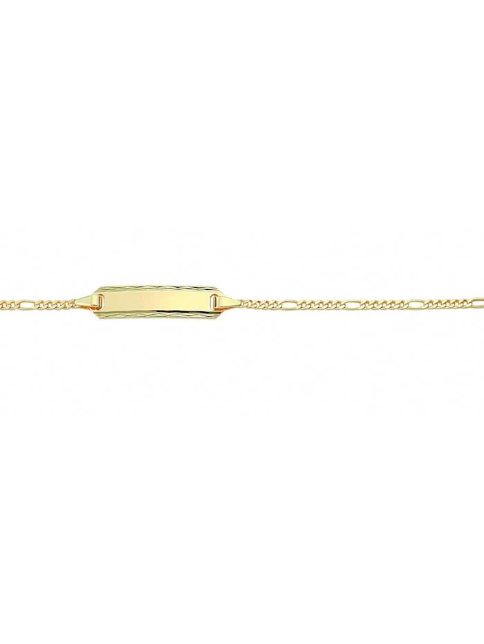 1001 Diamonds Damen Goldschmuck 333 Gold Figaro Armband 14 cm Ø 1,5 mm, gold