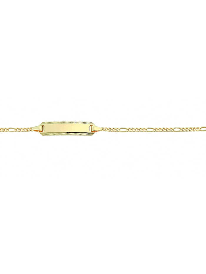 1001 Diamonds Damen Goldschmuck 333 Gold Figaro Armband 16 cm Ø 1,5 mm, gold