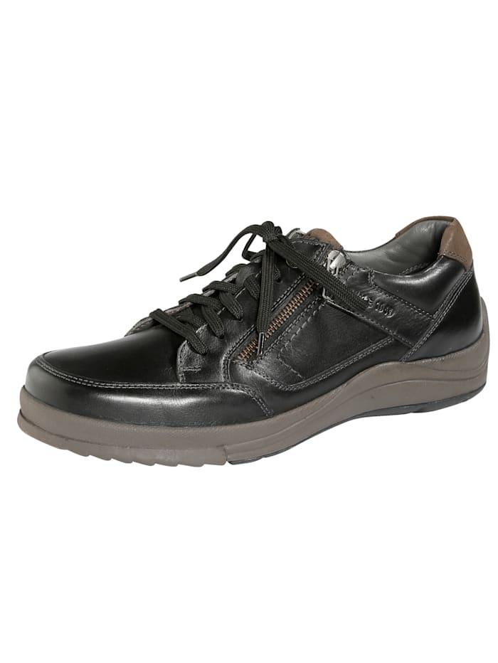 Ara Šněrovací obuv s dodatečným zipem, Černá