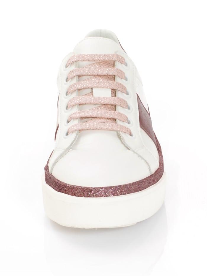 Sneaker mit modisch glitzernder Laufsohle