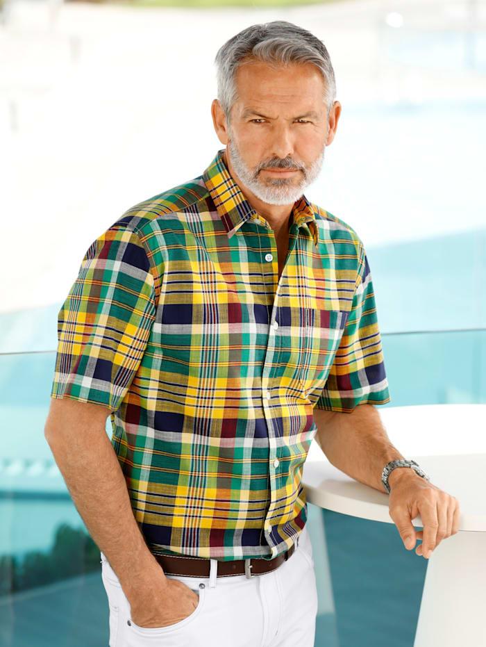 BABISTA Overhemd van zuiver katoen, Groen/Geel