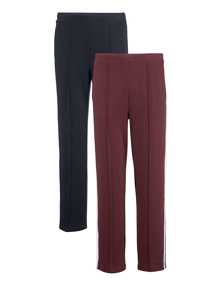 G Gregory Joggingbroek met decoratieve biesjes, Marine/Bordeaux