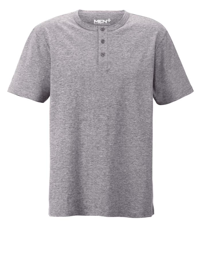 Men Plus Henleyshirt, Grau