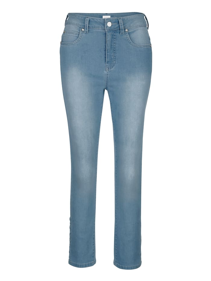 Jeans with quilted pattern
