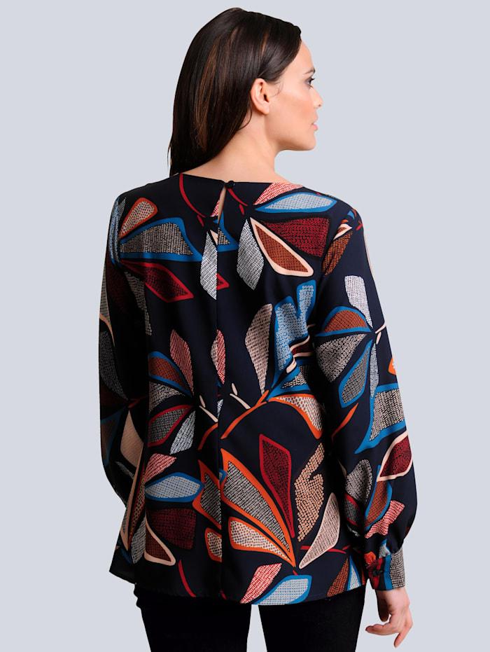 Bluse mit Blätter Print