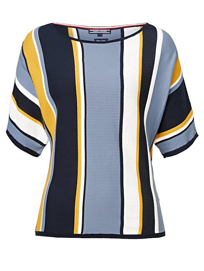 TOMMY HILFIGER Strickshirt, Blau