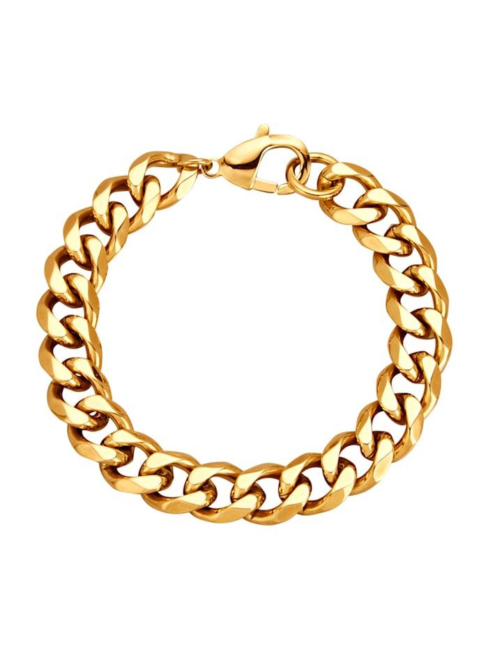 Armband – pansarlänkg, Guldfärgad