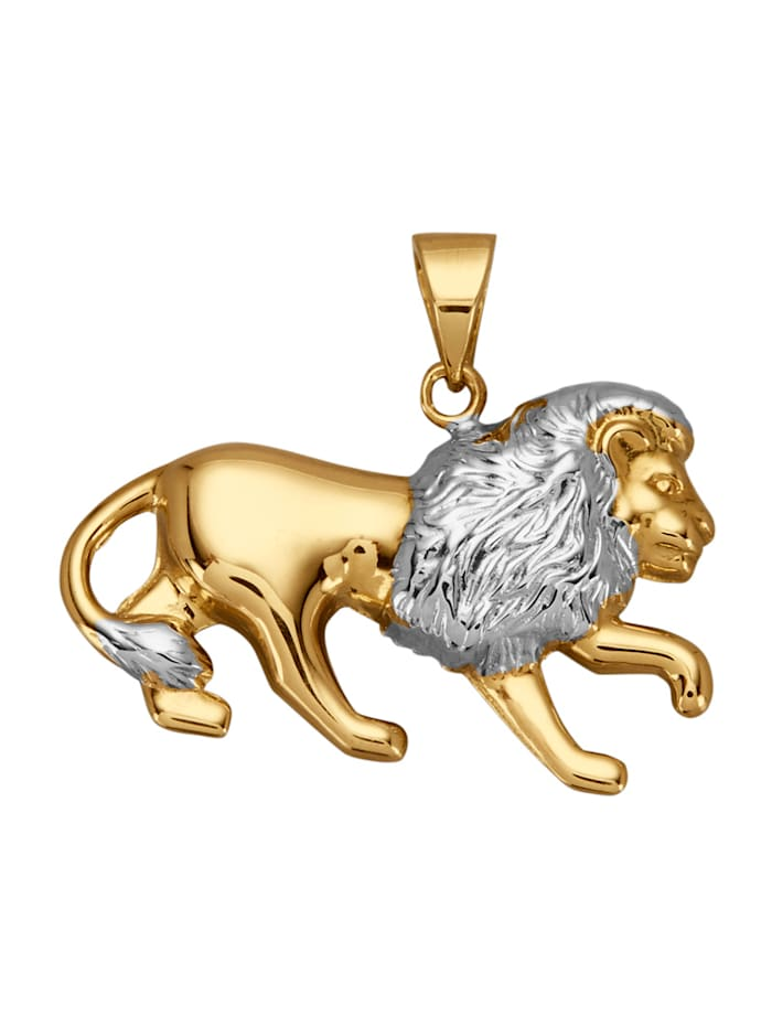 Hänge – lejon, Guldfärgad