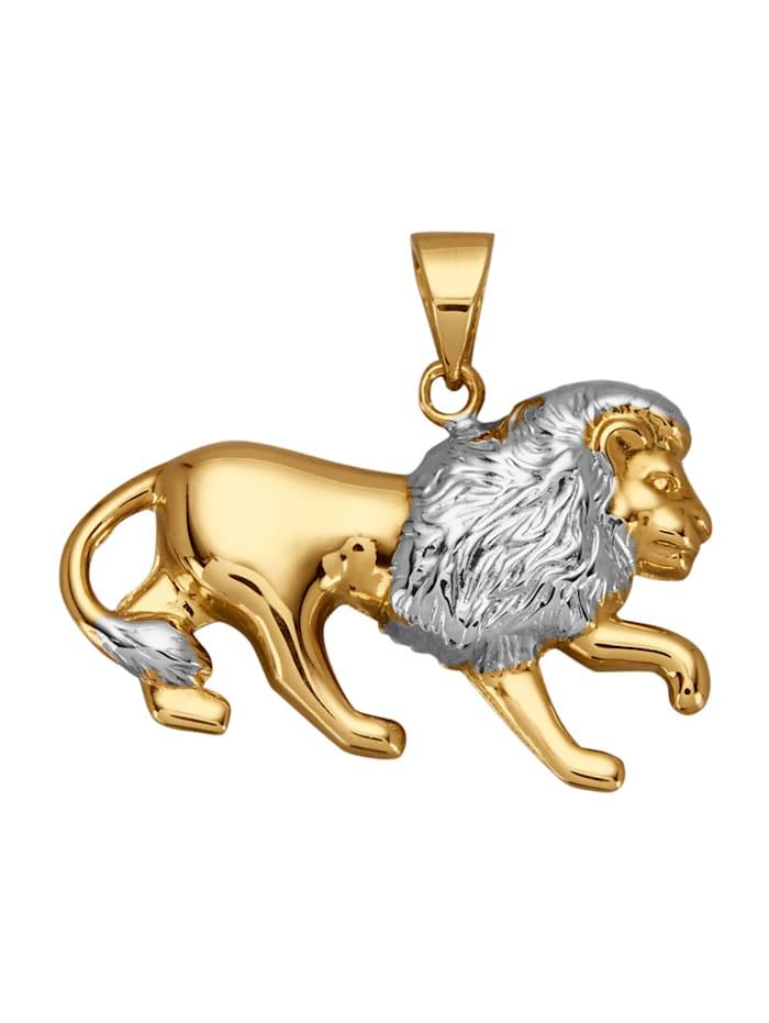 Pendentif Lion, Coloris or jaune