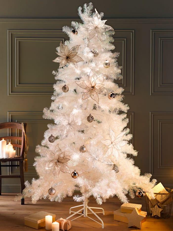 Sapin de Noël blanc, blanc