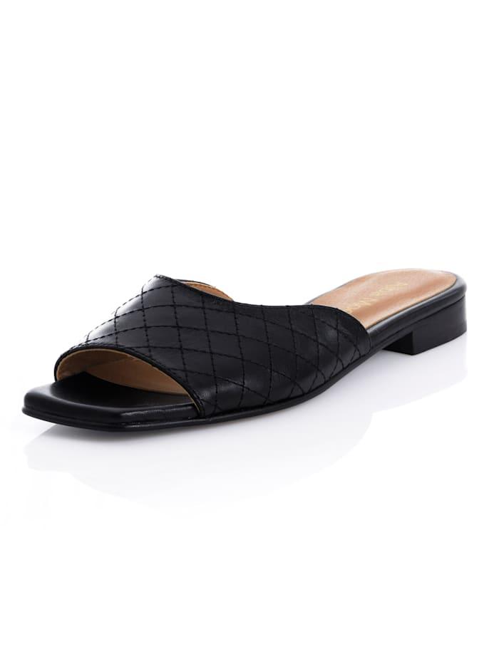 Alba Moda Nazouvací obuv z kozí nappa kůže, Černá