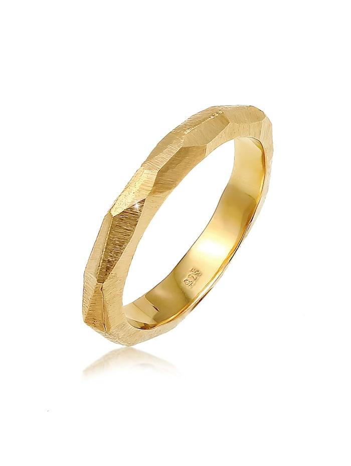 Elli Premium Ring Paarring Trauring Hochzeit Brushed 925 Silber, Gold