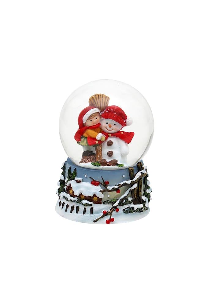 Schneekugel Schneemann mit Kind