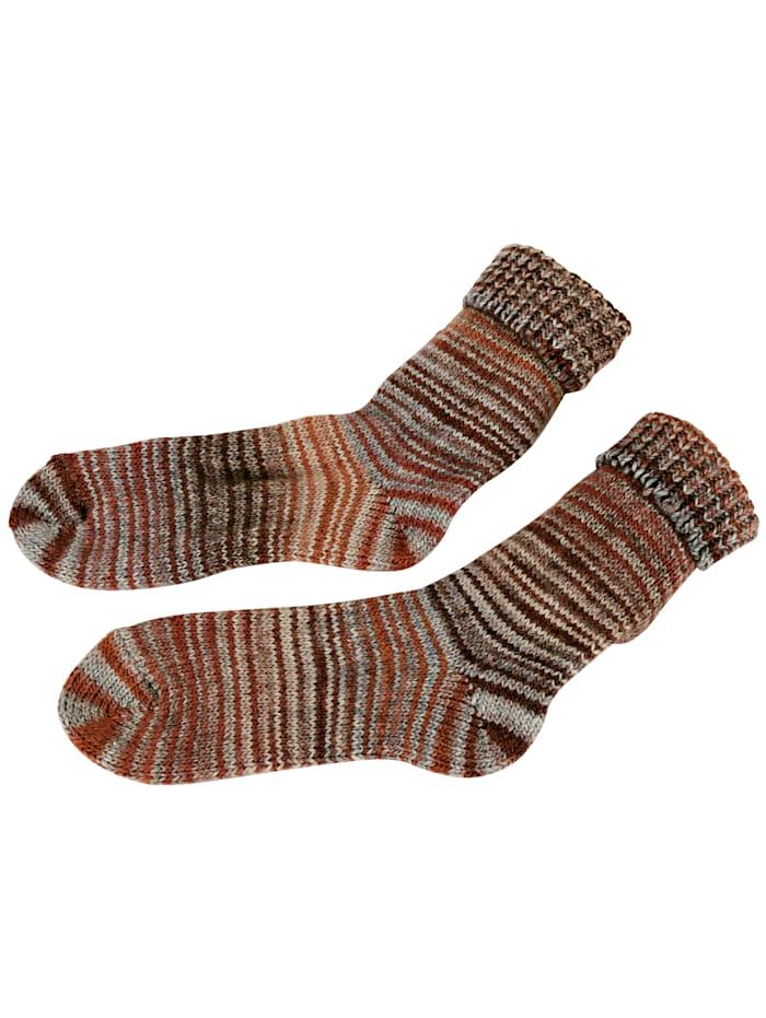 GHZ Wollen sokken in Scandinavische stijl, Bruin