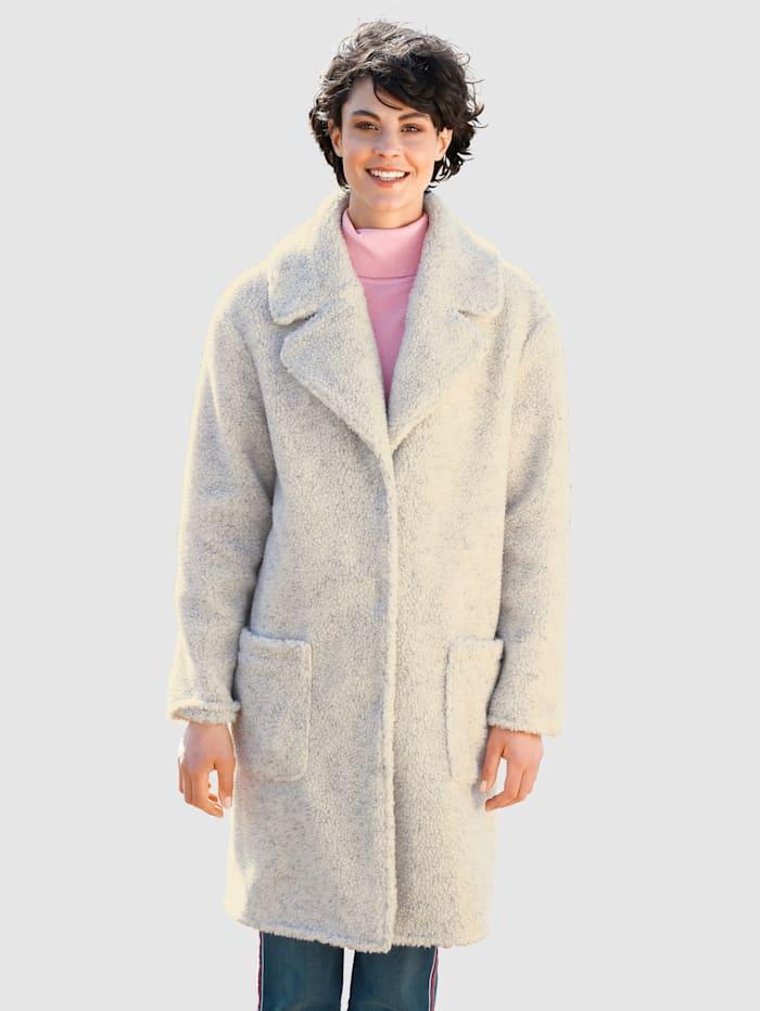 Dress In Jacke mit Teddyfell, Wollweiß