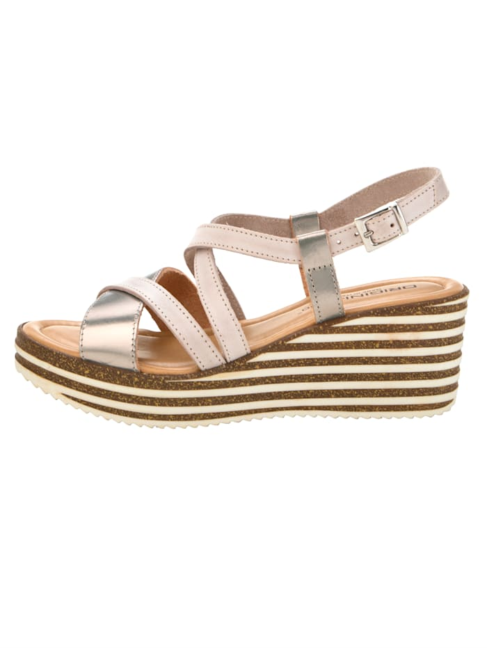 Wedge sandals with chic strap detailing