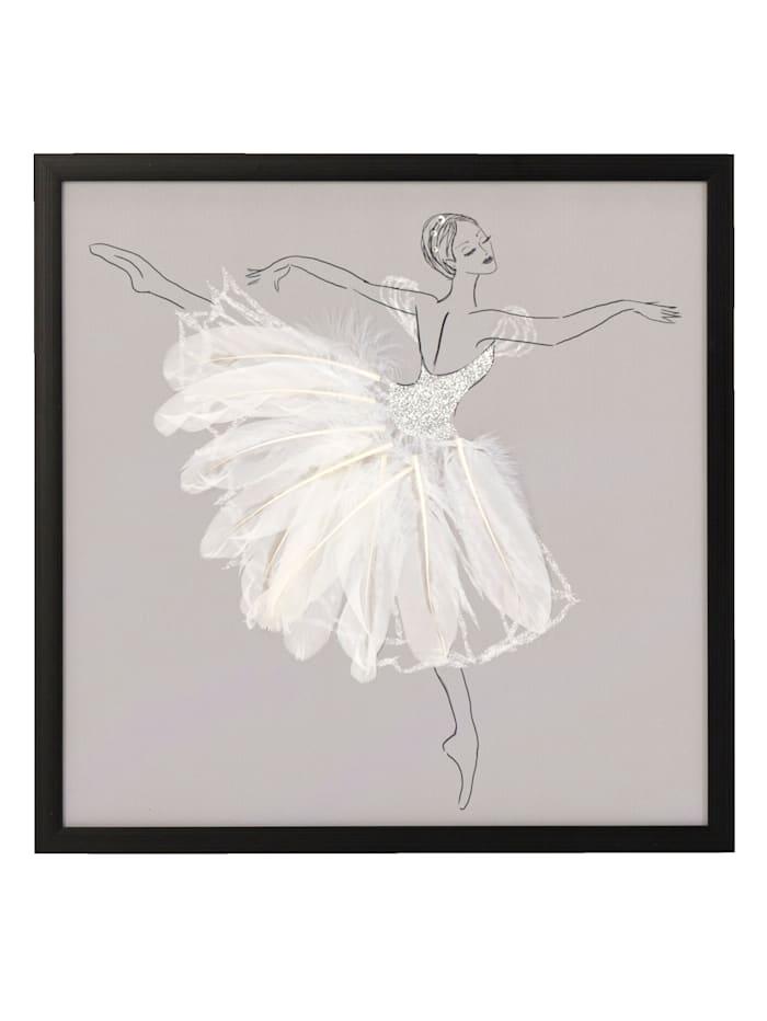 MARAVILLA Bild, Ballerina, Weiß/Grau/Schwarz