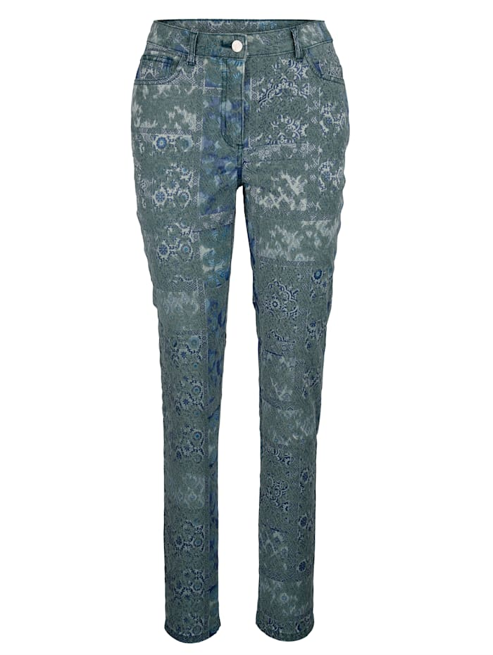 Trousers made from jacquard