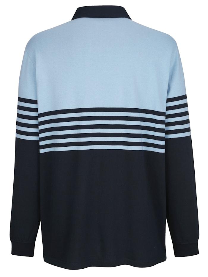 Sweatshirt met kraag van weefstof