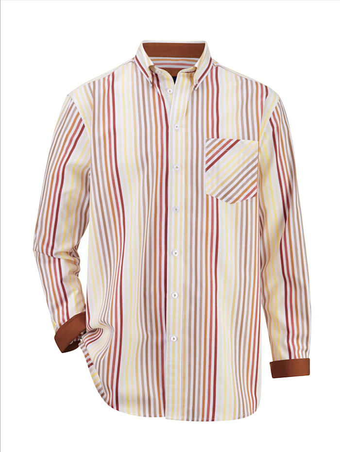 BABISTA Hemd mit garngefärbtem Streifenmuster, Sand/Weiß