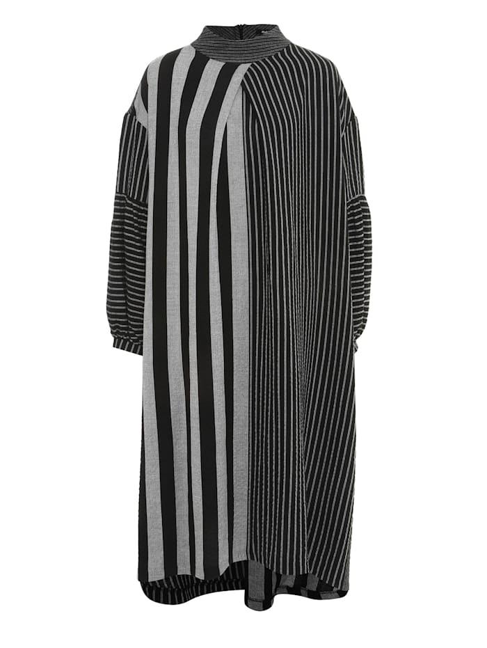 Madam-T A-Linien-Kleid Falcona, grau, schwarz