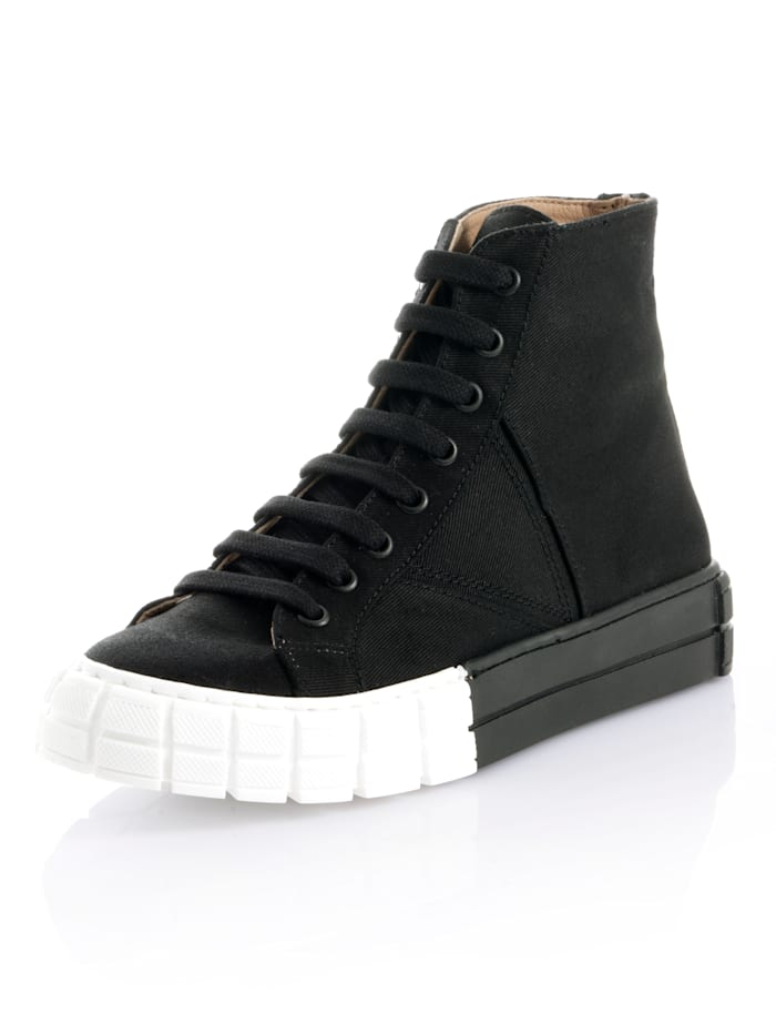 Alba Moda Sneaker in enkelmodel, Zwart