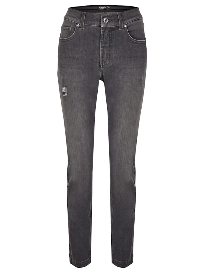 Angels Jeans 'Tama Destroyed' mit Destroyed-Effekten, grey used buffi crinkle destro