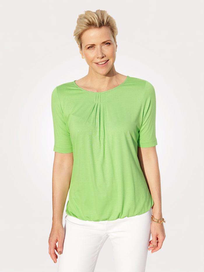 Rabe Shirt mit funkelndem Zierelement, Hellgrün