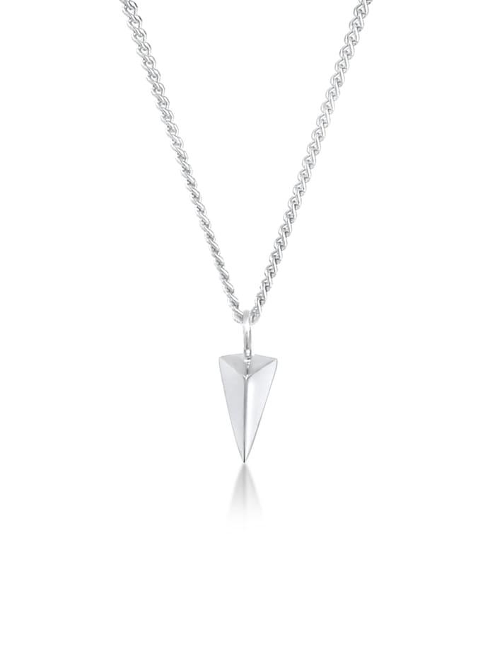 Elli Halskette Dreieck Geo Trend Minimal Design 925 Silber, Silber