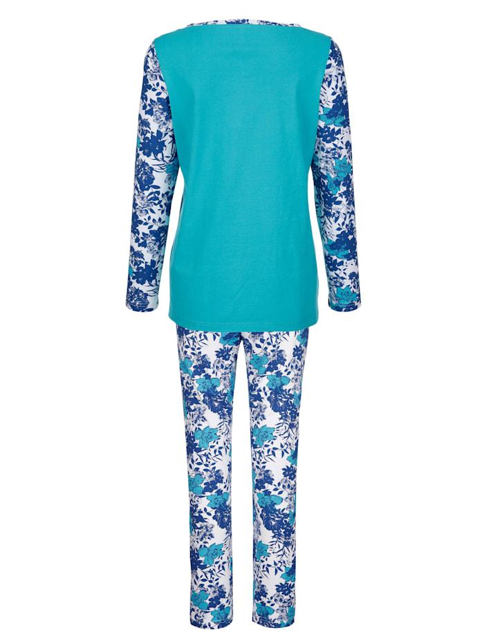 Pyjama met gedessineerde mouwen