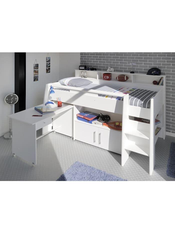 """Multifunktionshochbett mit Schreibtisch """"Swan 1"""""""