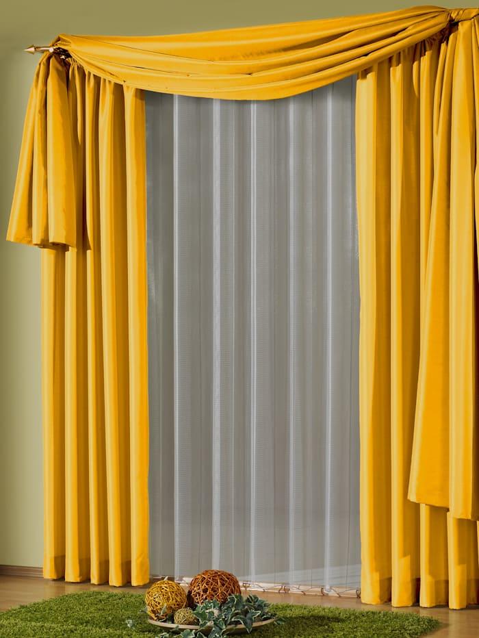 Einzelschal mit Kräuselband, Ronja, gelb