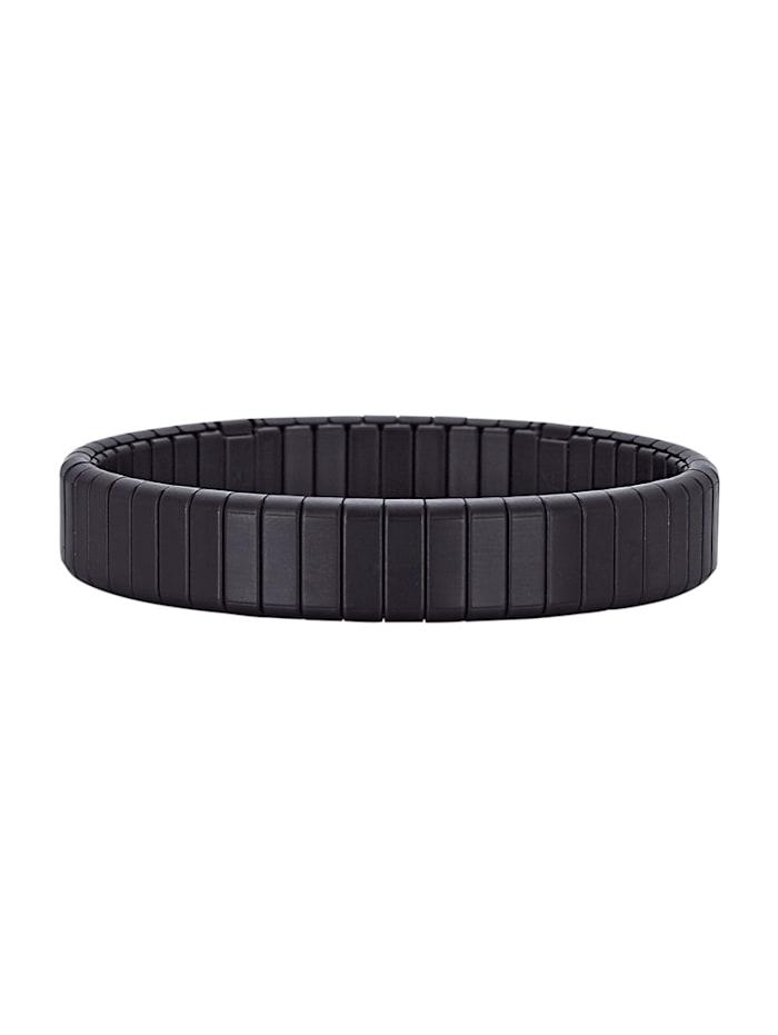 Magnetic Balance Edelstahl, Armband mit Edelstahl, Schwarz