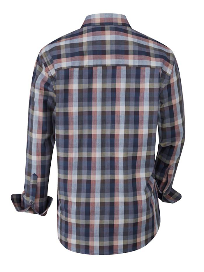 Chemise avec motif à carreaux tissé-teint