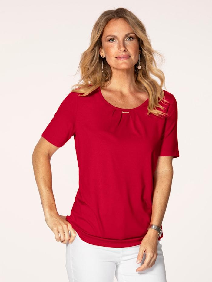 MONA Shirt aus Feinjersey, Rot