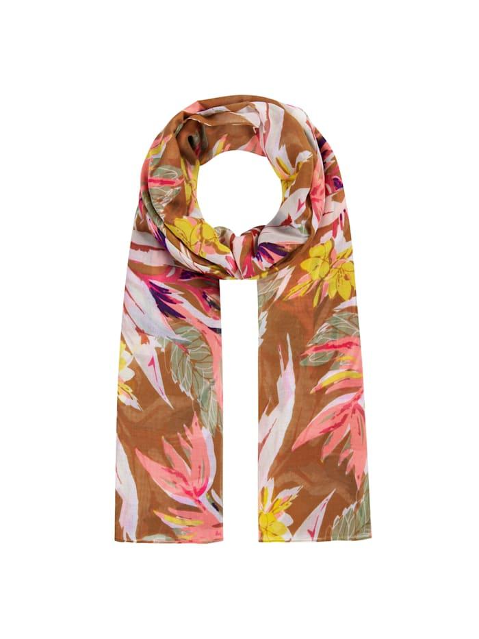 Codello Supersofter Blumen-Schal aus recyceltem Polyester, rust