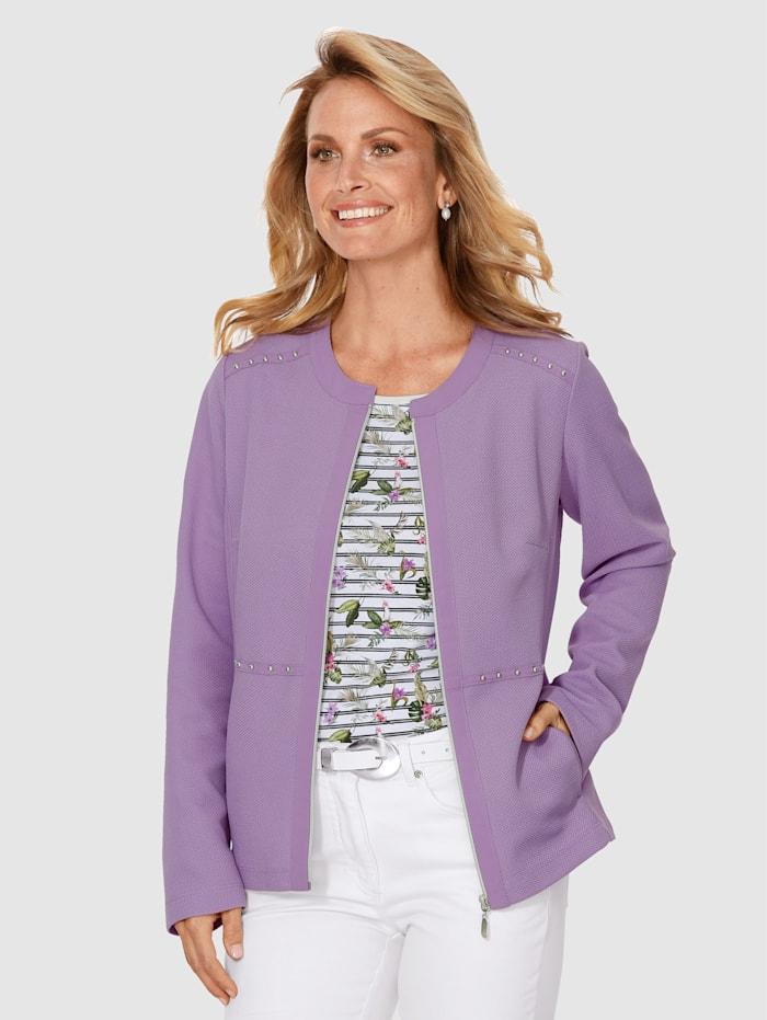 MONA Blazer med fin struktur, Lavendel