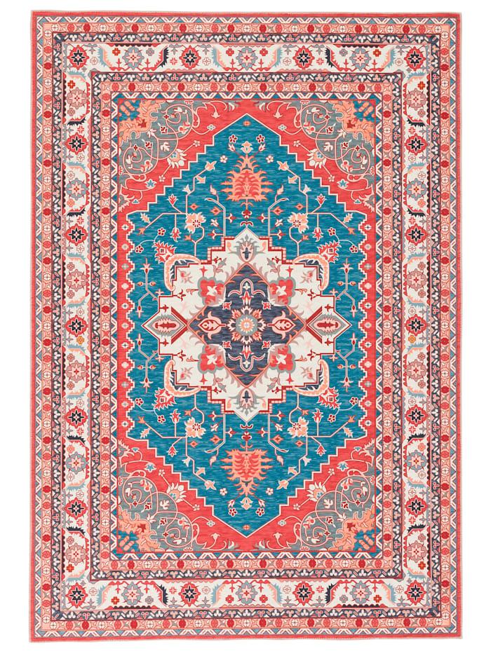 Pergamon Luxus Orient Teppich Primus  Keshan, Türkis