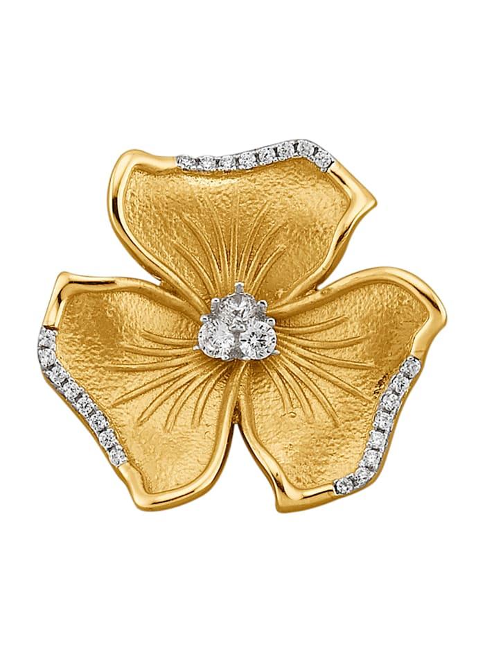 Pendentif Fleur en or jaune 375