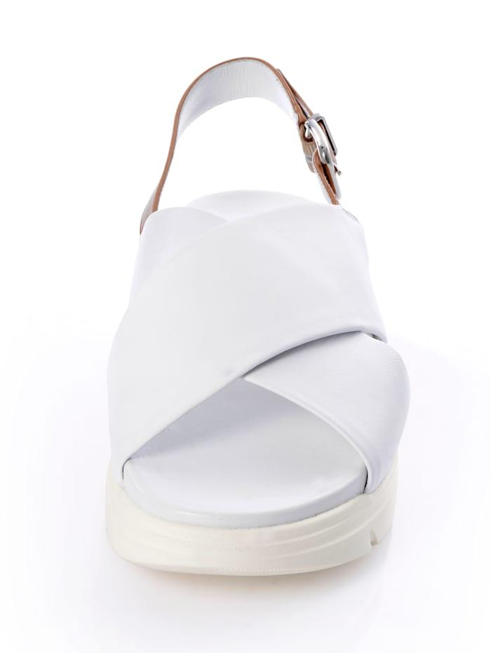 Sandalette aus handschhuhweichem Leder